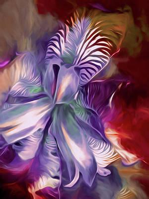 Mixed Media - Iris Splendor 12 by Lynda Lehmann