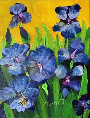 Painting - Irises In The Sun by Christina Schott
