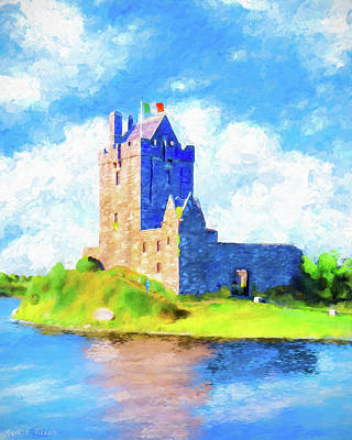 Painting - On Irish Shores - Dunguaire Castle by Mark Tisdale