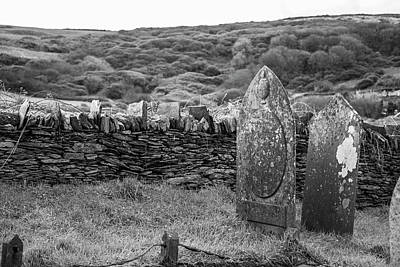 Photograph - Irish Gravestone  by John McGraw
