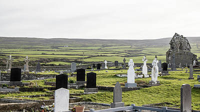 Photograph - Irish Graveyard In County Clare by John McGraw