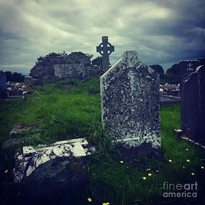 Photograph - Irish Graveyard  by Suzanne Lorenz