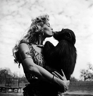 Art Prints Photograph - Irish Mccalla Is Sheena, Queen Of The by Loomis Dean