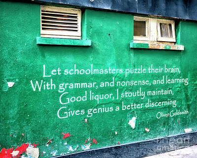 Photograph - Irish Wisdom In Dublin by John Rizzuto