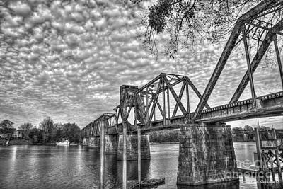 Photograph - Iron Works 6th Street Railroad Bridge Augusta Georgia Art by Reid Callaway