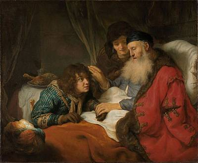 Painting - Isaac Blessing Jacob, C. 1638 by Govert Flinck