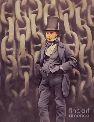 Digital Art Rights Managed Images - Isambard Kingdom Brunel, Genius Royalty-Free Image by John Springfield