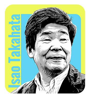 Digital Art Rights Managed Images - Isao Takahata Tribute Royalty-Free Image by Greg Joens