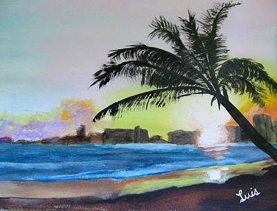 Painting - Isla Verde by Luis F Rodriguez