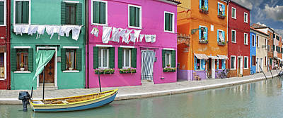 Burano Photograph - Island Of Burano by Images Etc Ltd