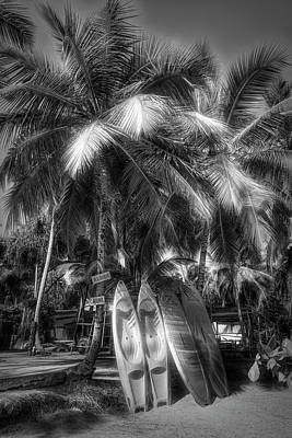 Photograph - Island Surf Mood Black And White by Debra and Dave Vanderlaan