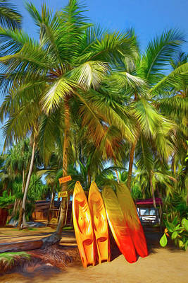 Photograph - Island Surf Mood Painting by Debra and Dave Vanderlaan