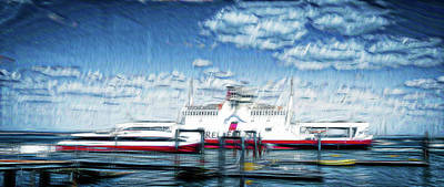 Digital Art - Isle Of Wight Ferry by Pete Hunt