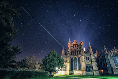 Photograph - Iss Over Ely Cathedral by James Billings
