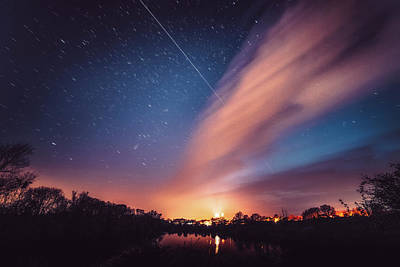 Photograph - Iss Over Ely by James Billings