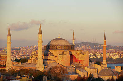 Islam Wall Art - Photograph - Istanbul, Hagia Sophia Mosque by Tuul & Bruno Morandi