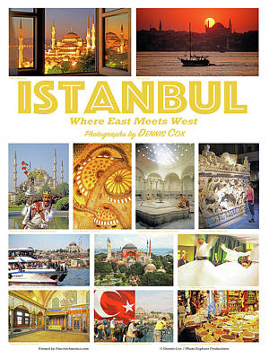 Kids Alphabet - Istanbul Travel Poster by Dennis Cox