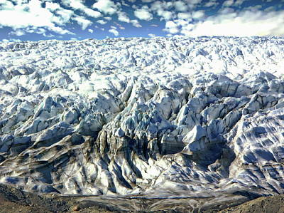 Photograph - Isunnguata Sermia Glacier by Anthony Dezenzio