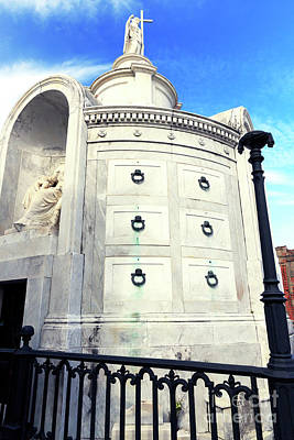 Photograph - Italia Society At St. Louis Cemetery New Orleans by John Rizzuto