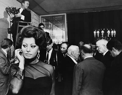 Photograph - Italian Actress Sophia Loren And Film by Keystone-france