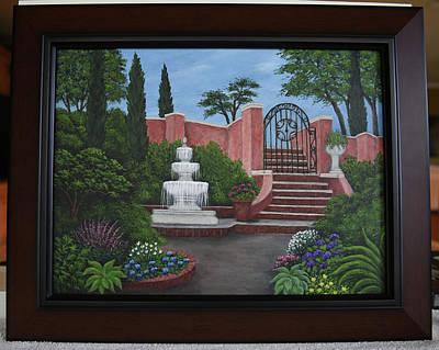 Painting - Italian Courtyard Entry by Gloria Johnson