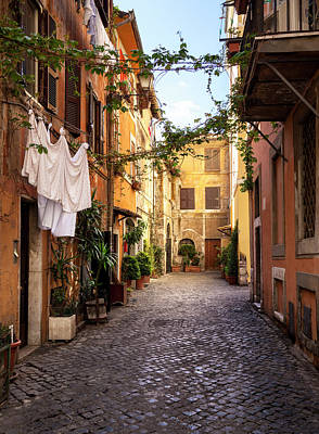 Photograph - Italian Old Town Trastevere In Rome by Spooh
