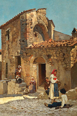 Painting - Italian Street Scene by Michele Cammarano