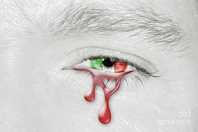 Photograph - Italy Bloody Crying Eye by Benny Marty