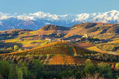 Italy, Piedmont, Langhe, Cuneo Art Print by Peter Adams