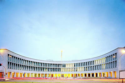 Photograph - Italy, Rome, Palace Of Science At Dusk by Alessandro Rizzi