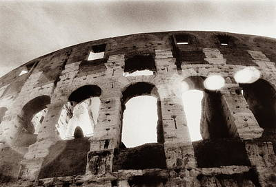 Photograph - Italy, Rome, The Colosseum, Low Angle by Carolyn Bross
