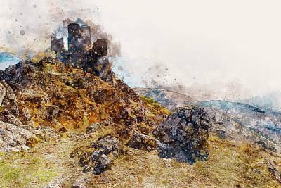 Painting - Italy, The Castle Of Rocca Calascio - 03 by Andrea Mazzocchetti