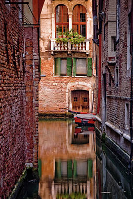 Balcony Photograph - Italy, Veneto, Venice, Rio San Antonio by Slow Images