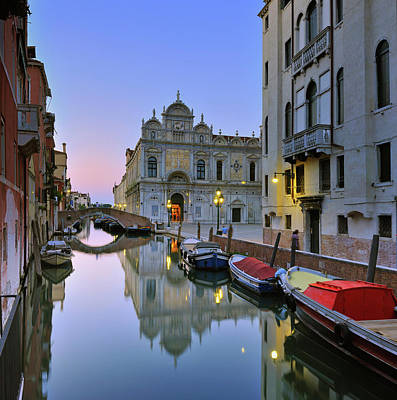 Photograph - Italy, Venice, Rio Canal And San Marco by Slow Images