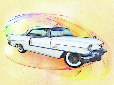 Digital Art - It's A Cadillac by Rick Wicker