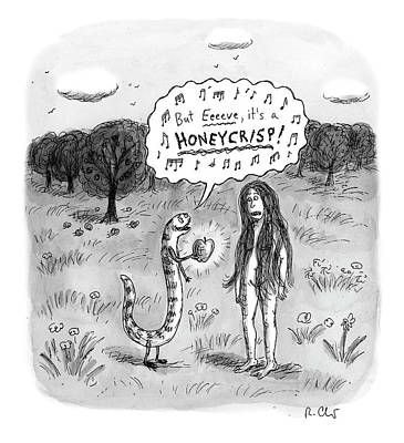 Drawing - It's A Honeycrisp by Roz Chast