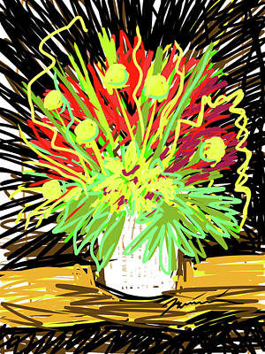 Painting - It's All Exploding by Jean Pacheco Ravinski