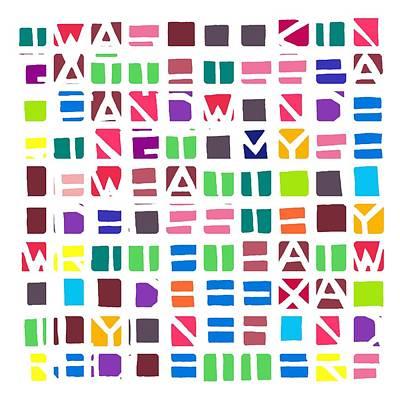 Iwaslookin... Colour Art Print