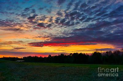 Photograph - Jaars Runways Edge Sunset by Daniel Brinneman