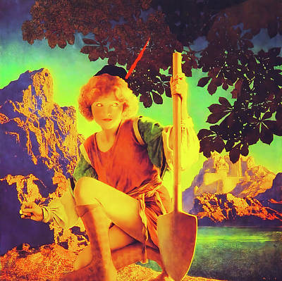 Painting - Jack And The Beanstalk by Maxfield Parrish