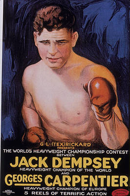 Photograph - Jack Dempsey Boxing Poster by Hulton Archive
