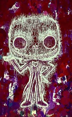 Mixed Media - Jack Skellington Pop by Al Matra