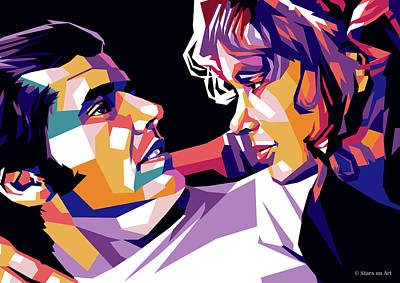 Colorful Button - Jack Nicholson and Karen Black by Stars on Art