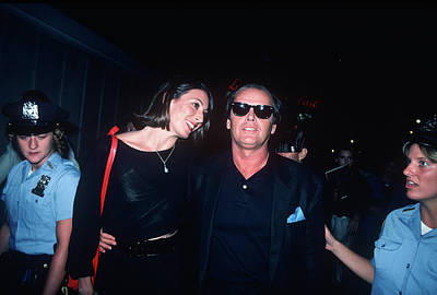 Usa Photograph - Jack Nicholson, Anjelica Huston by Art Zelin