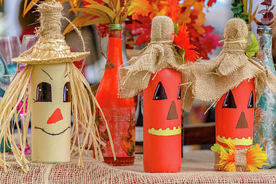Photograph - Jack-o-bottles by Erich Grant