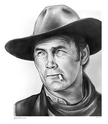 Drawing - Jack Palance by Greg Joens