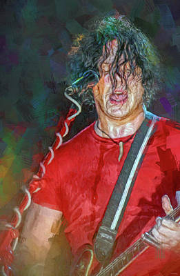 Musicians Royalty Free Images - Jack White Musician Royalty-Free Image by Mal Bray