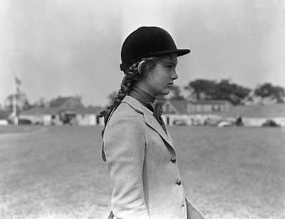Photograph - Jackie In Profile by Bert Morgan