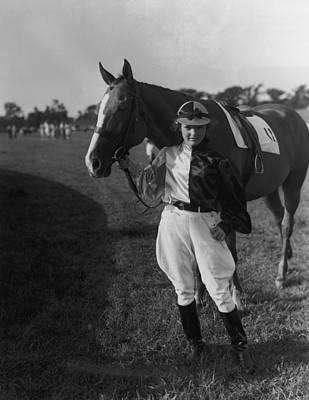 Photograph - Jackie In Silks by Bert Morgan