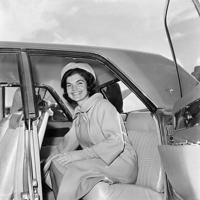 Photograph - Jackie Kennedy by Bert Morgan